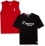 FiFa Men's Slim Fit Combo T-shirts at Flat 70% Off From Rs.229