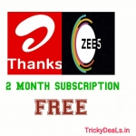 Free Zee5 Subscription is available in Airtel thanks app