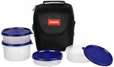 Solimo Plastic Lunch Box with Bag at Rs.259