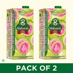 B Natural Guava Juice 1L, (Pack of 2) at Rs.150