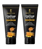 Barber's Club Black Charcoal Peel Off Mask with Honey – 60 gms – Pack of 2