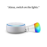 Echo Dot Combo with Wipro 9W LED Smart Color Bulb – Smart Home Starter Kit