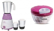 Inalsa Mixer Grinder with 3 Jars + Inalsa Chop-it Handy Chopper at Rs.1888