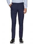 John Players Men's Straight Fit Formal Trousers (JFMWTRS190053004_Dutch Blue_34)