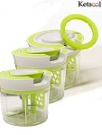 Pack of 3 Vegetable Chopper with 3 Blades at Rs.325