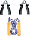Combo of Wood Rope & PVC Hand Gripper at Rs.140