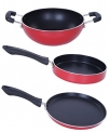 Nirlon Non-Stick Aluminium Mini Cookware Set, Tawa,Fry Pan Kadhai